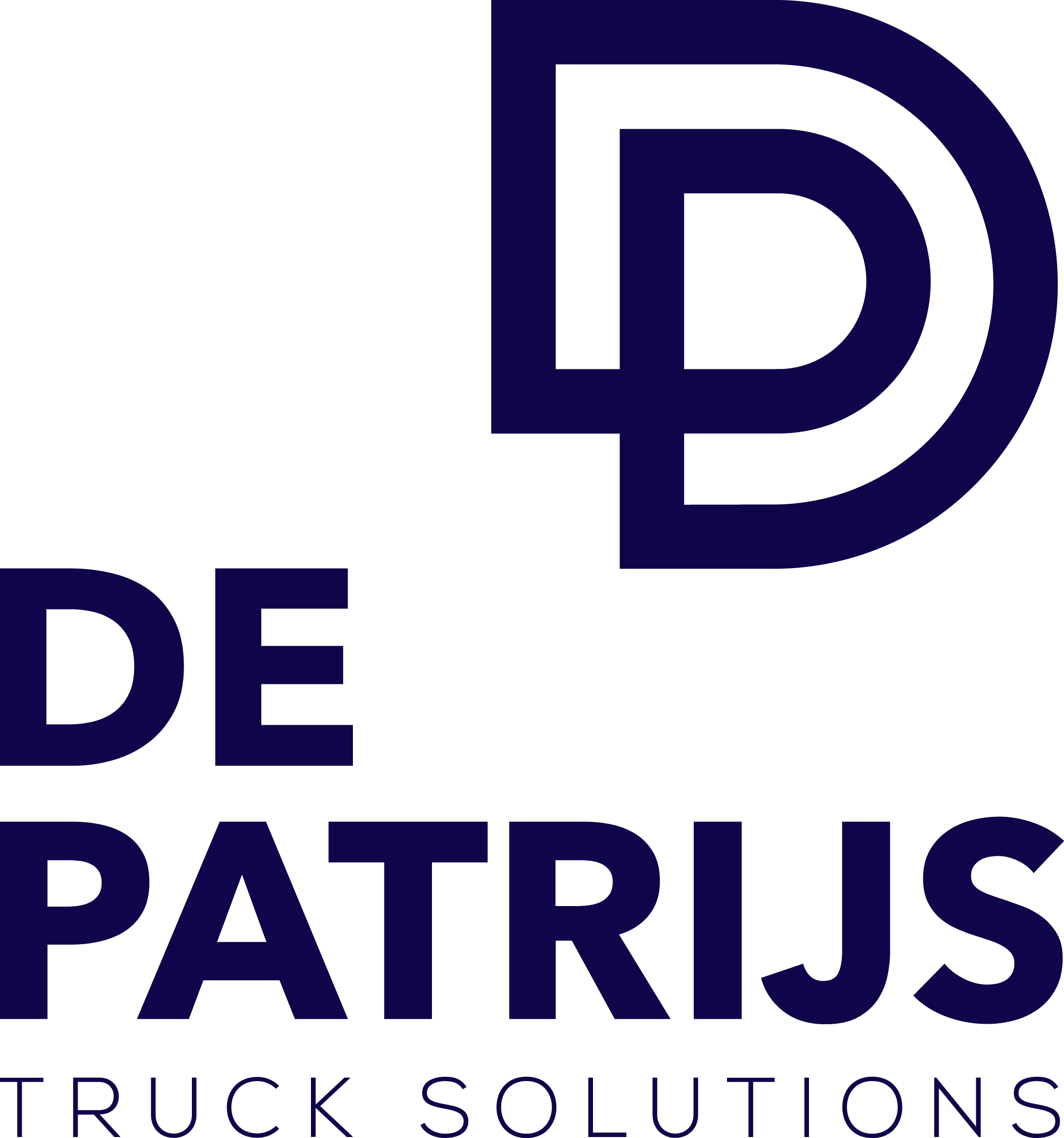 Logo De Patrijs 2013 normaal truck solutions blauw transparant
